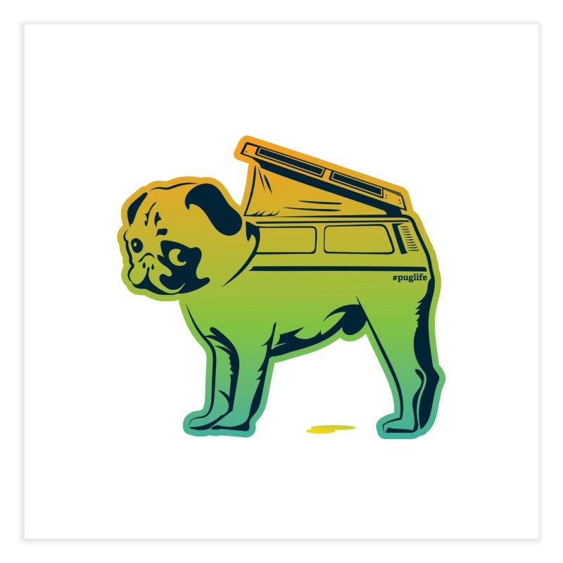 Special Edition Rainbow #puglife Home Fine Art Print by Ovid Nine Creative Lab signature shirts