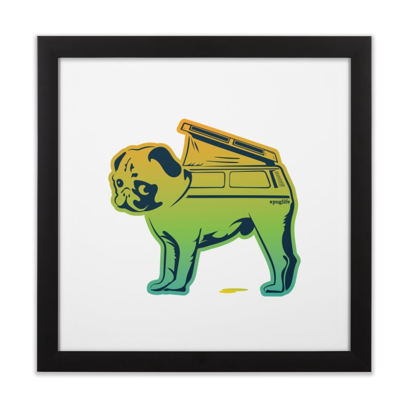 Special Edition Rainbow #puglife Home Framed Fine Art Print by Ovid Nine Creative Lab signature shirts