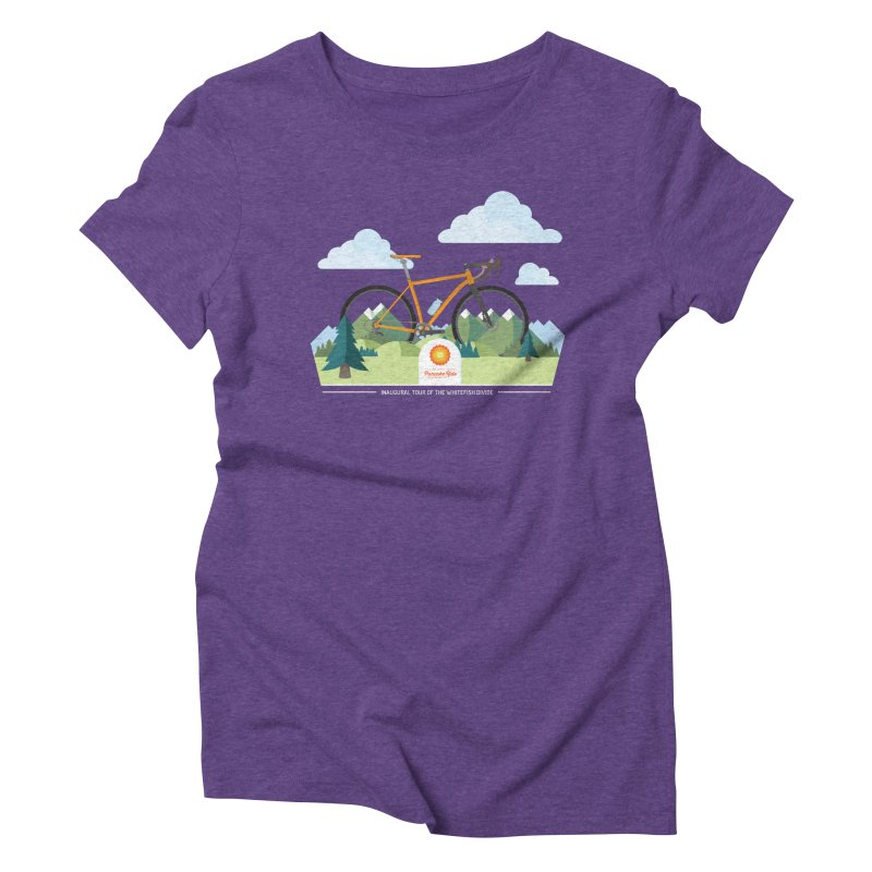 Pancake Ride Shirt in Women's Triblend T-Shirt Tri-Purple by Ovid Nine Creative Lab signature shirts