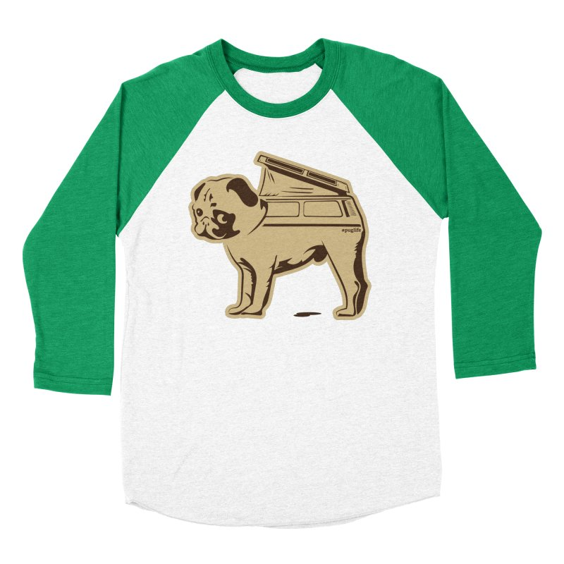 #puglife Women's Baseball Triblend Longsleeve T-Shirt by Ovid Nine Creative Lab signature shirts