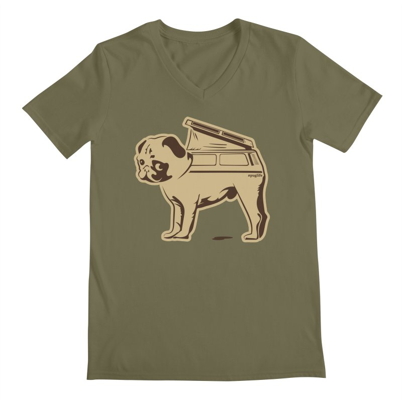 #puglife Men's V-Neck by Ovid Nine Creative Lab signature shirts