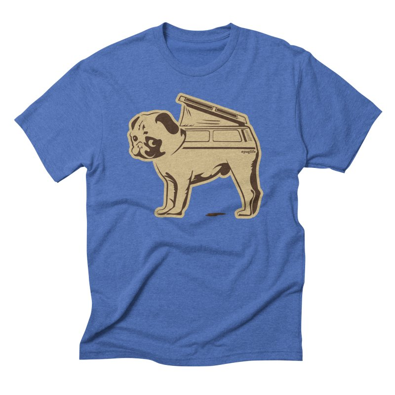 #puglife in Men's Triblend T-shirt Blue Triblend by Ovid Nine Creative Lab signature shirts
