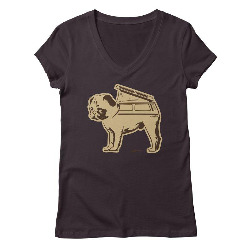 #puglife Women's V-Neck by Ovid Nine Creative Lab signature shirts