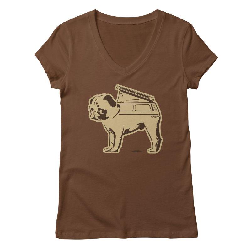 #puglife Women's Regular V-Neck by Ovid Nine Creative Lab signature shirts