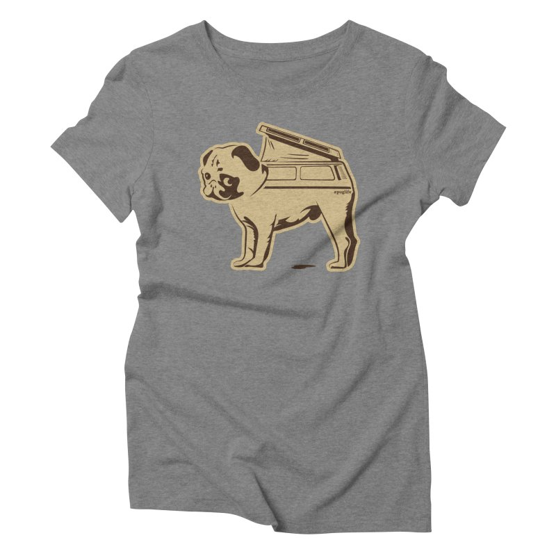 #puglife Women's Triblend T-Shirt by Ovid Nine Creative Lab signature shirts