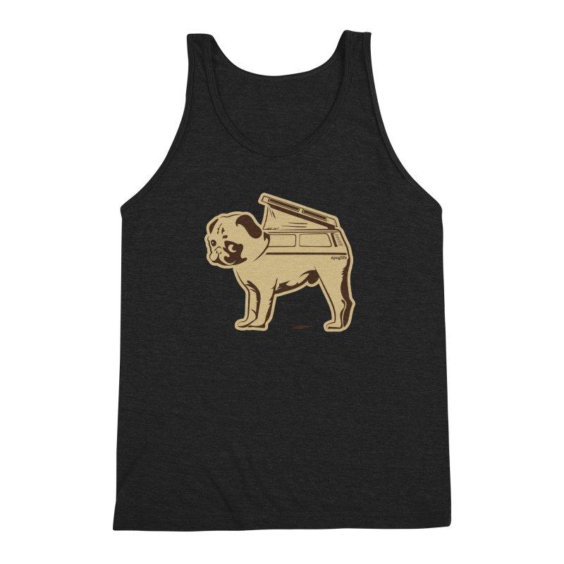#puglife Men's Triblend Tank by Ovid Nine Creative Lab signature shirts
