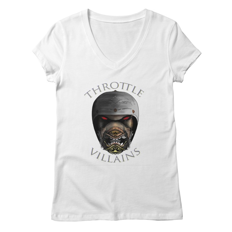 Throttle Villains Leo Women's V-Neck by owenmaidstone's Artist Shop