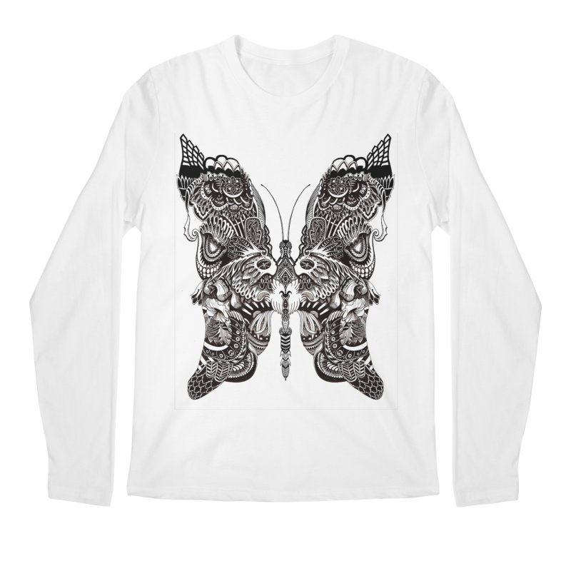 Butterfly Men's Longsleeve T-Shirt by owenmaidstone's Artist Shop