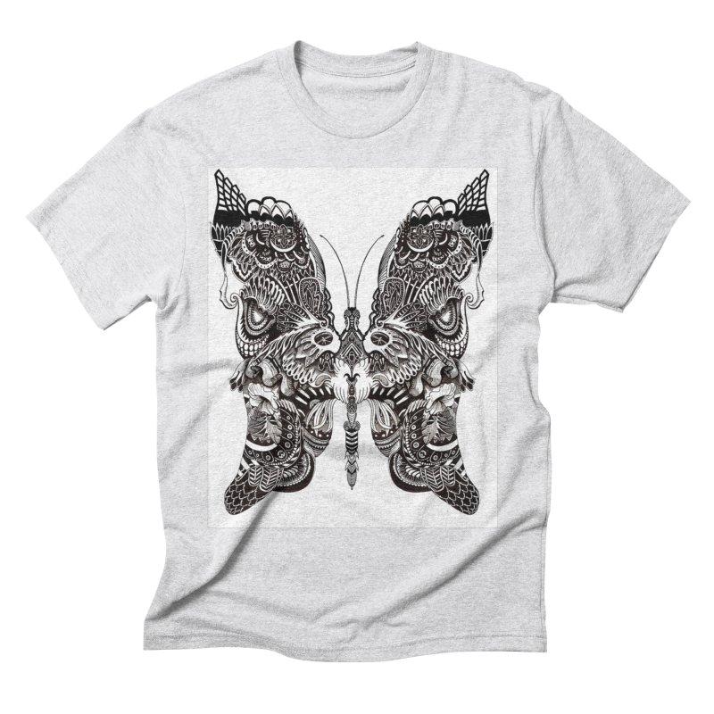 Butterfly Men's Triblend T-Shirt by owenmaidstone's Artist Shop