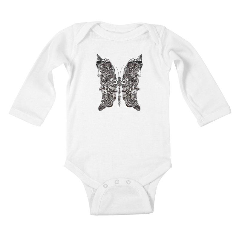Butterfly Kids Baby Longsleeve Bodysuit by owenmaidstone's Artist Shop