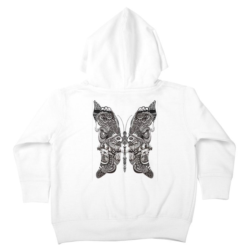 Butterfly Kids Toddler Zip-Up Hoody by owenmaidstone's Artist Shop