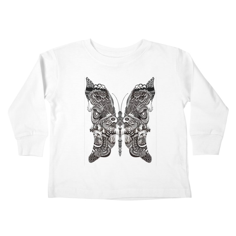 Butterfly Kids Toddler Longsleeve T-Shirt by owenmaidstone's Artist Shop