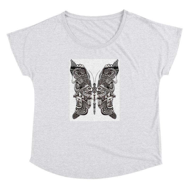 Butterfly Women's Dolman Scoop Neck by owenmaidstone's Artist Shop