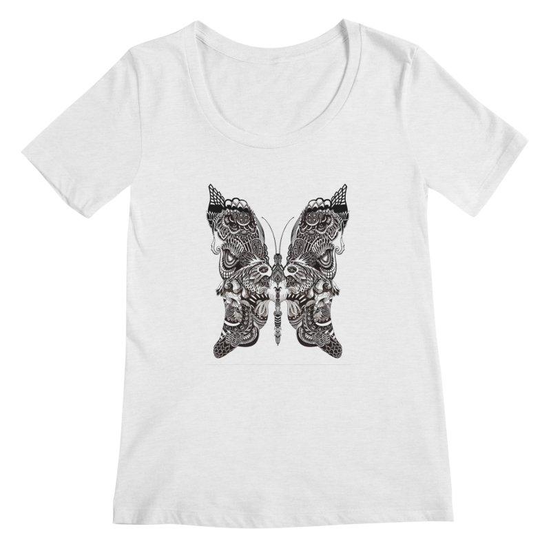 Butterfly Women's Regular Scoop Neck by owenmaidstone's Artist Shop