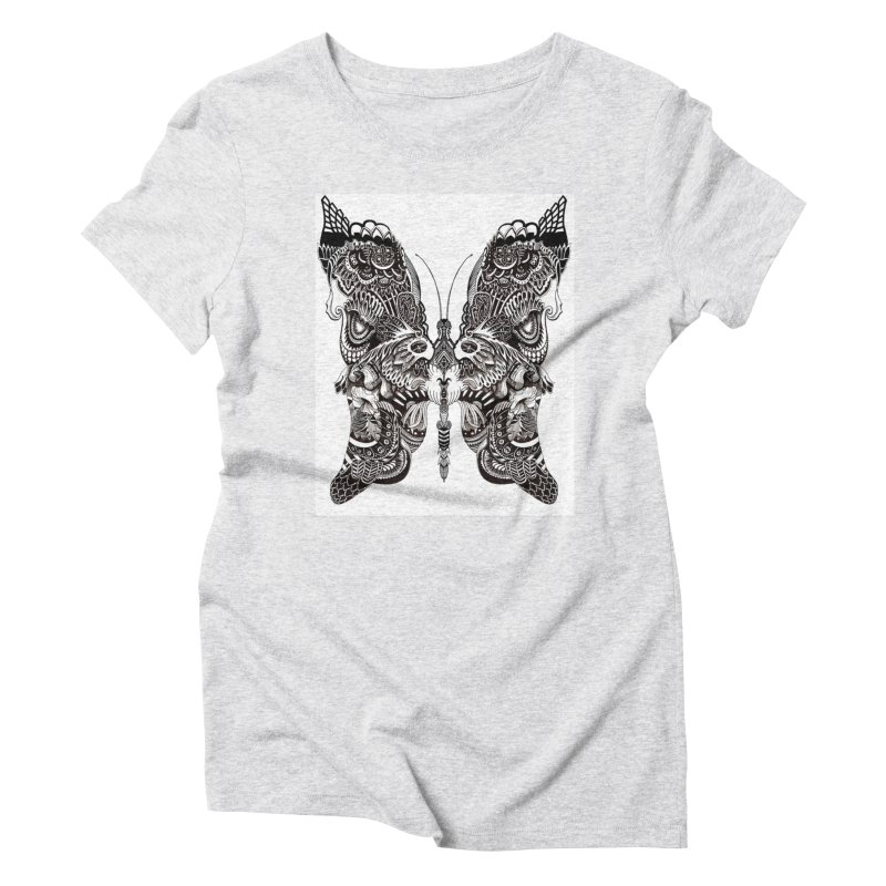 Butterfly Women's Triblend T-Shirt by owenmaidstone's Artist Shop
