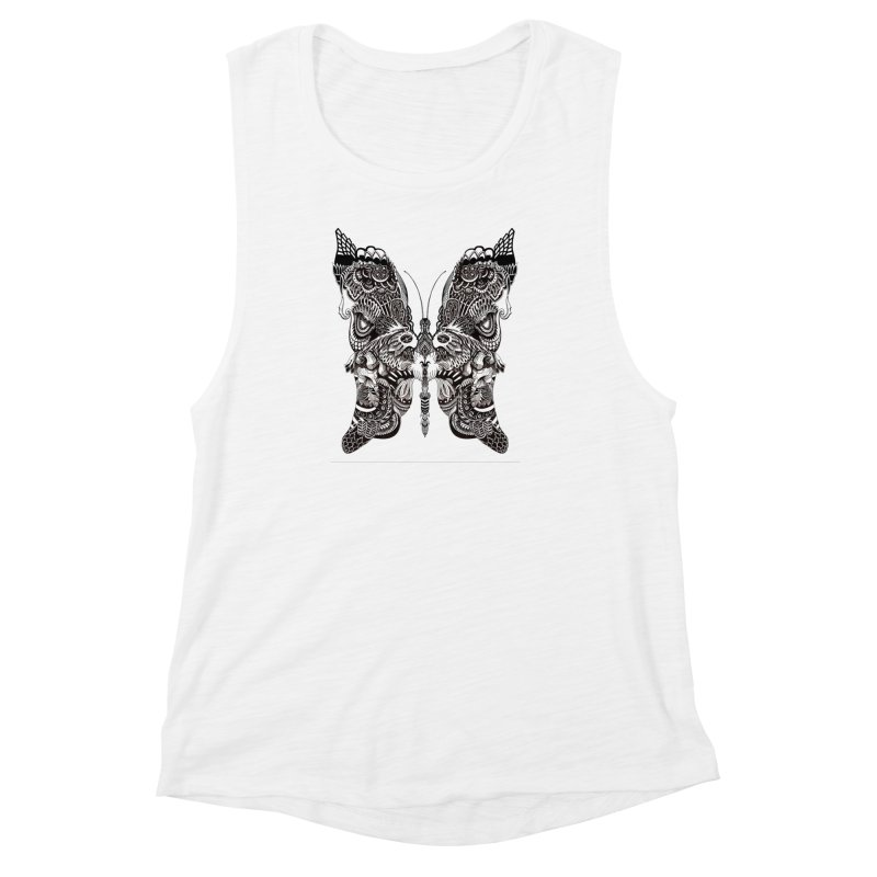 Butterfly Women's Muscle Tank by owenmaidstone's Artist Shop
