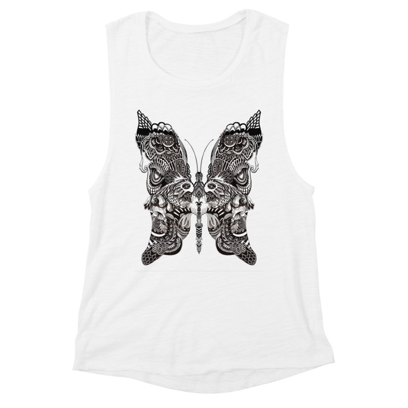 Butterfly Women's Muscle Tank by owenmaidstone's Artist Shop
