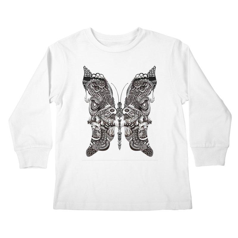 Butterfly Kids Longsleeve T-Shirt by owenmaidstone's Artist Shop