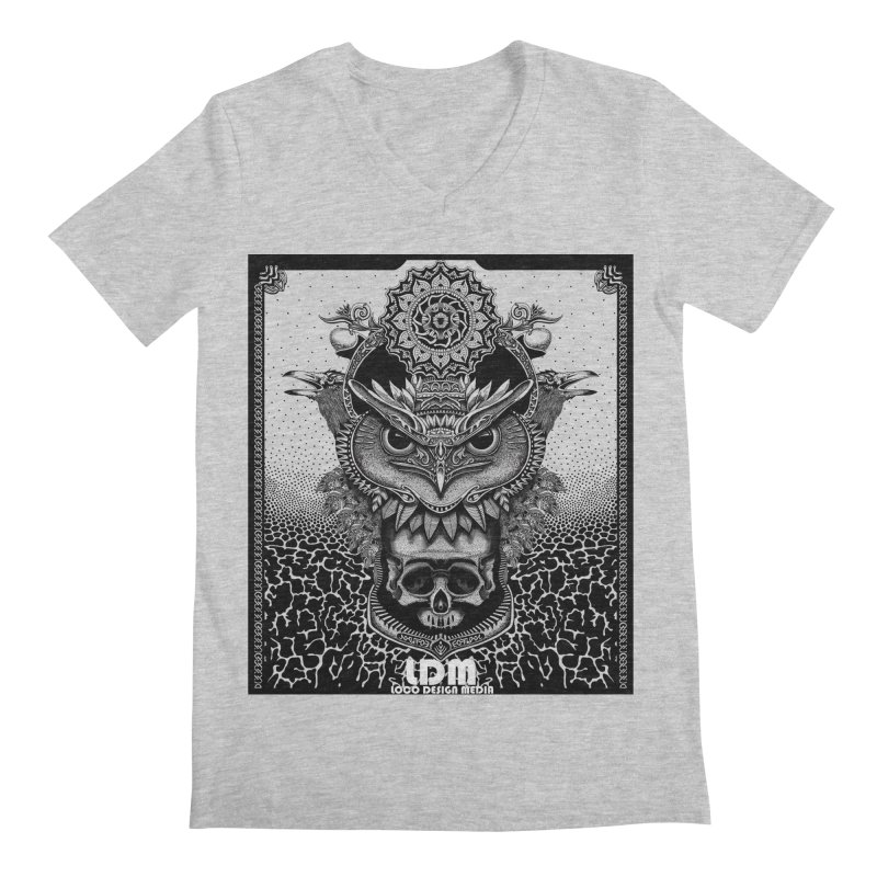 Owl_2016 Men's Regular V-Neck by owenmaidstone's Artist Shop