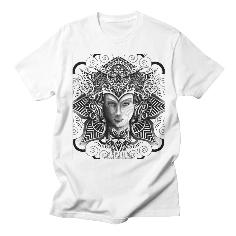 Flower_Face in Men's Regular T-Shirt White by owenmaidstone's Artist Shop