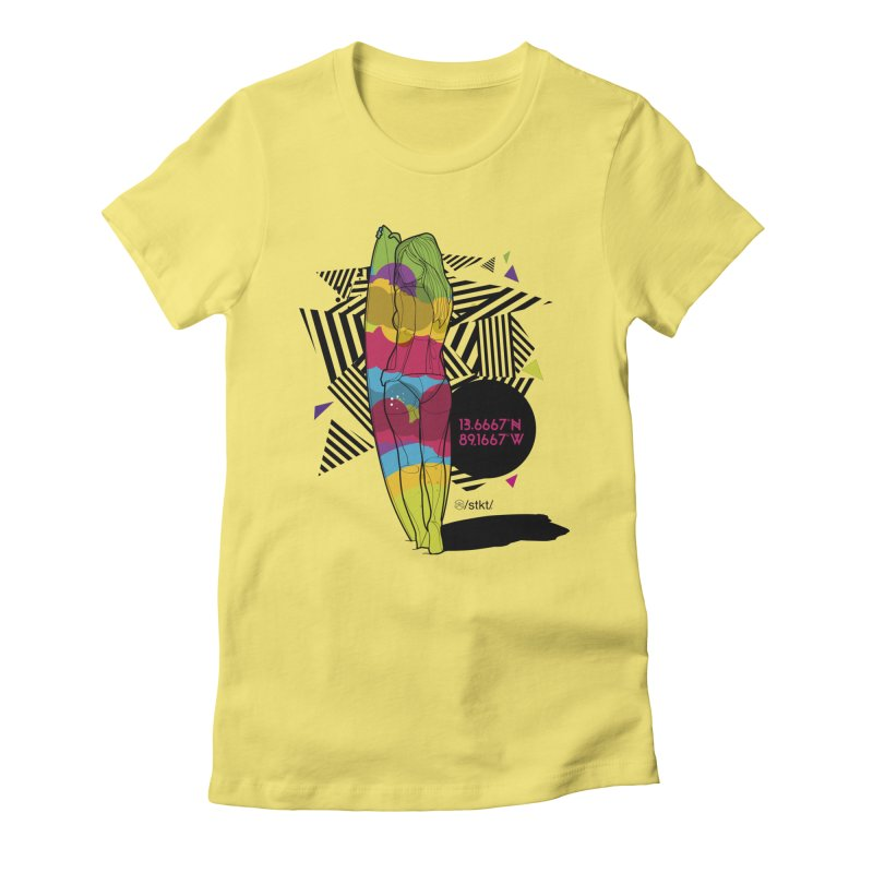 Beach life Women's Fitted T-Shirt by owik's Artist Shop