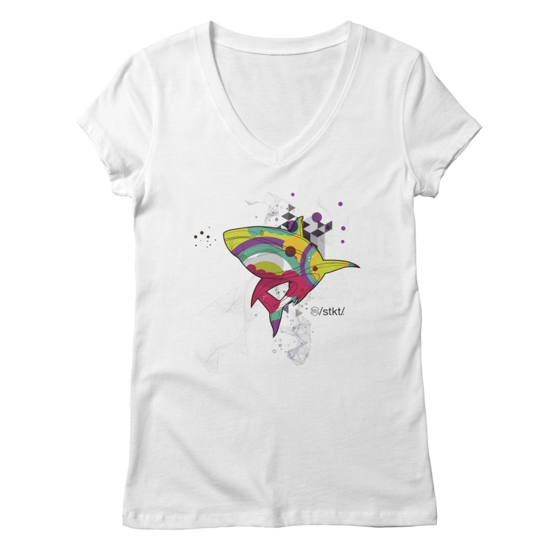 Respect the Locals Women's V-Neck by owik's Artist Shop