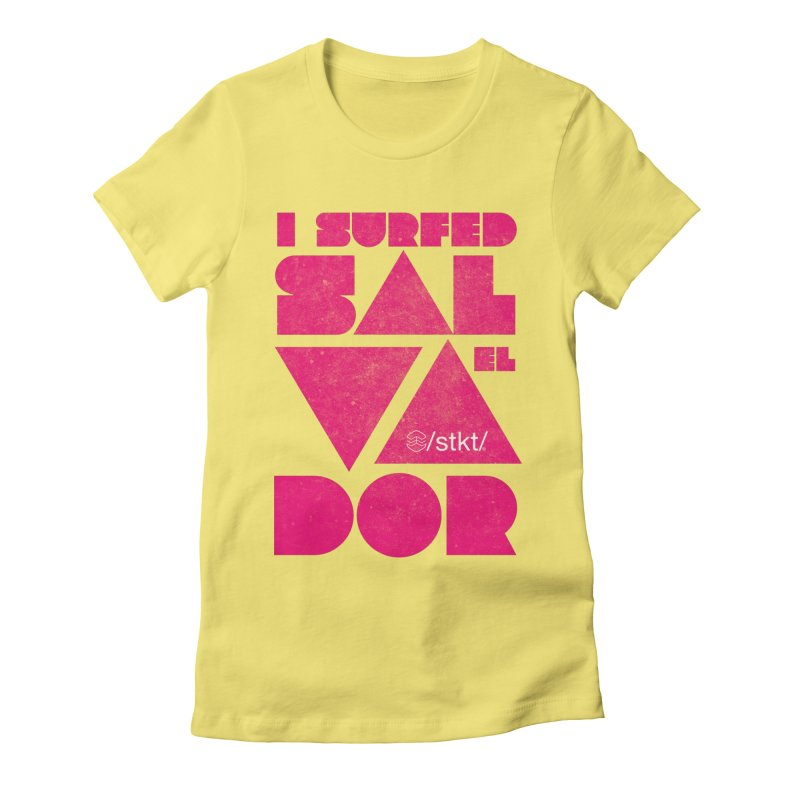 I surfed El Salvador Women's Fitted T-Shirt by owik's Artist Shop