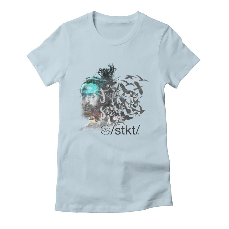 Free Spirit  Women's Fitted T-Shirt by owik's Artist Shop