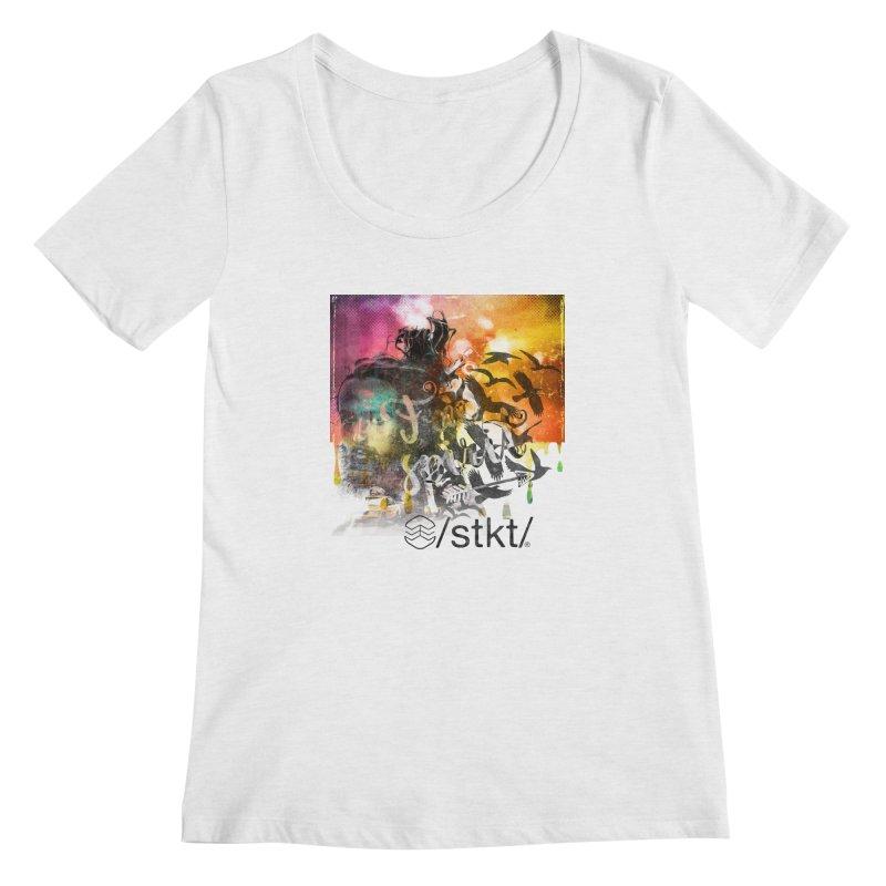 Free Women's Scoopneck by owik's Artist Shop
