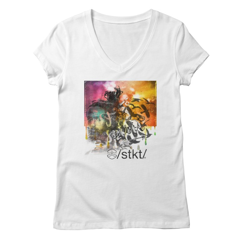 Free Women's V-Neck by owik's Artist Shop