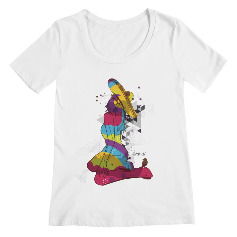 Beach Life Women's Scoopneck by owik's Artist Shop