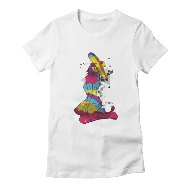 Beach Life Women's Fitted T-Shirt by owik's Artist Shop
