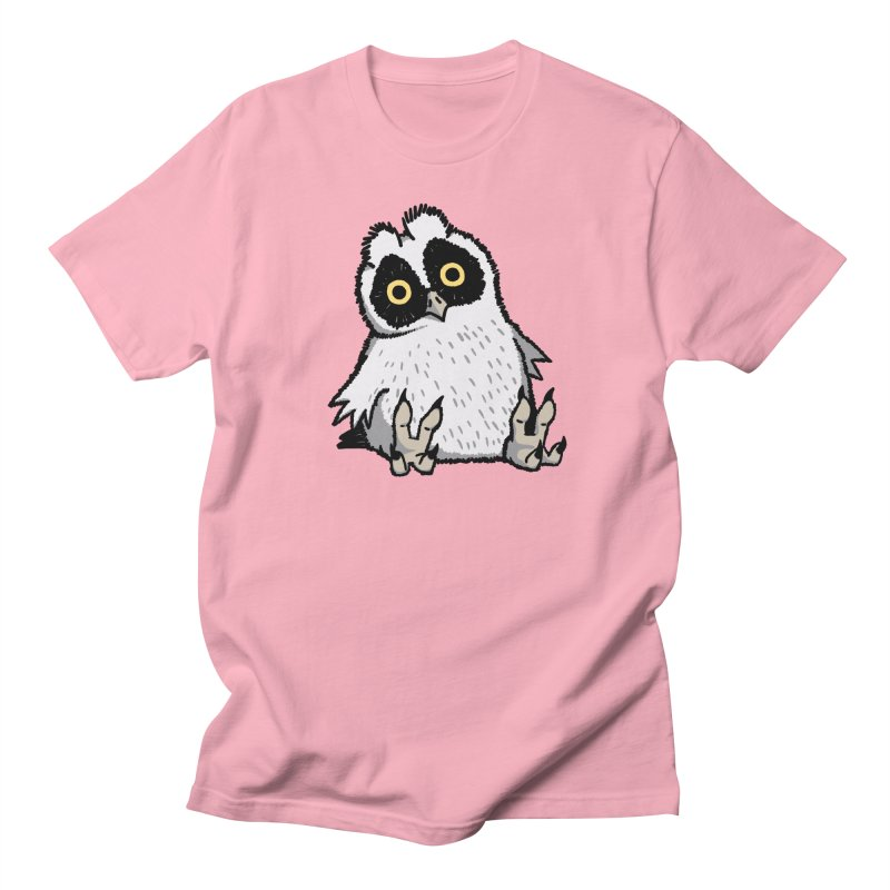 Curious Owlet in Women's Unisex T-Shirt Light Pink by Owl Basket
