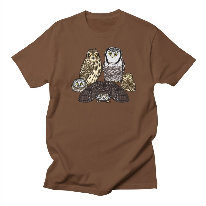 Little Parliament in Women's Unisex T-Shirt Brown by Owl Basket