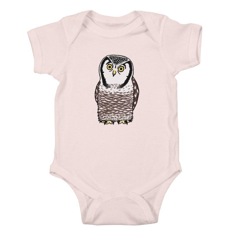 Hawk Owl Kids Baby Bodysuit by Owl Basket