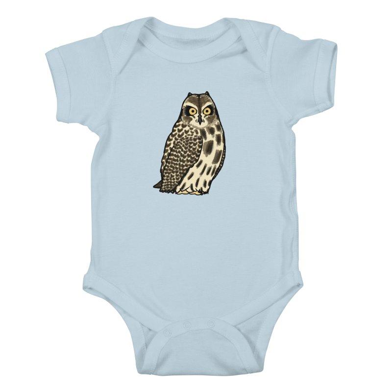 Short-eared Owl Kids Baby Bodysuit by Owl Basket