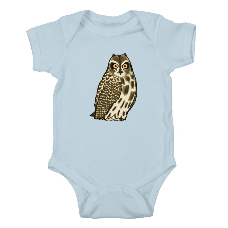 Short-eared Owl Kids Baby Bodysuit by Owl Basket