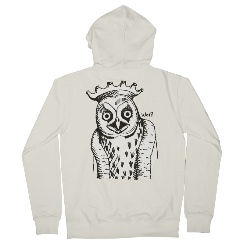 Wot Lord Men's French Terry Zip-Up Hoody by Owl Basket