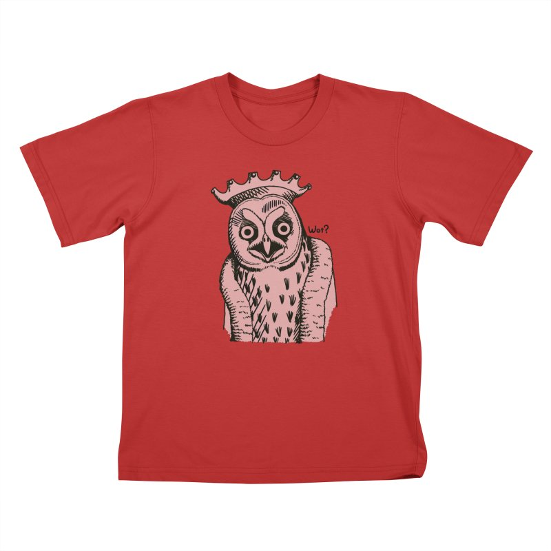 Wot Lord in Kids T-Shirt Red by Owl Basket