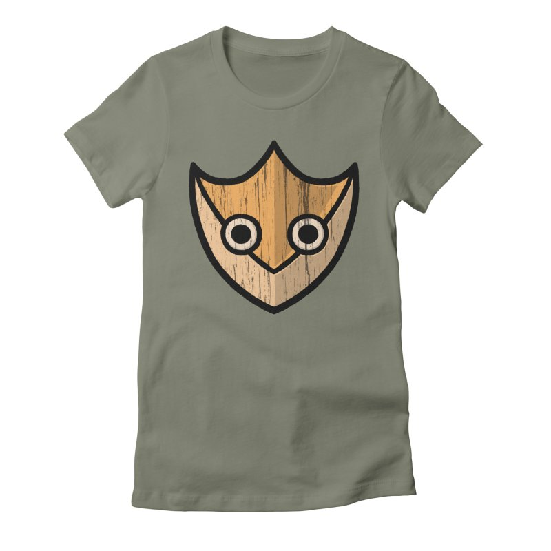 Shield of Buffet Women's Fitted T-Shirt by Owl Basket