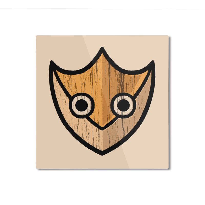 Shield of Buffet Home Mounted Aluminum Print by Owl Basket