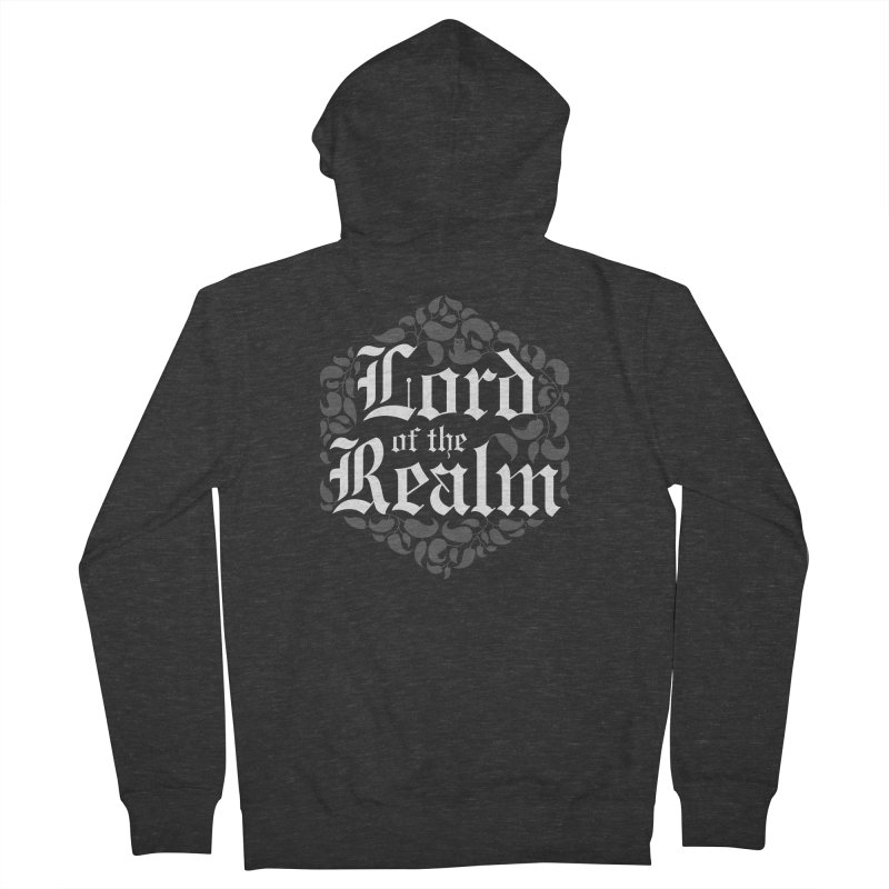 Lord of the Realm (white) Men's French Terry Zip-Up Hoody by Owl Basket