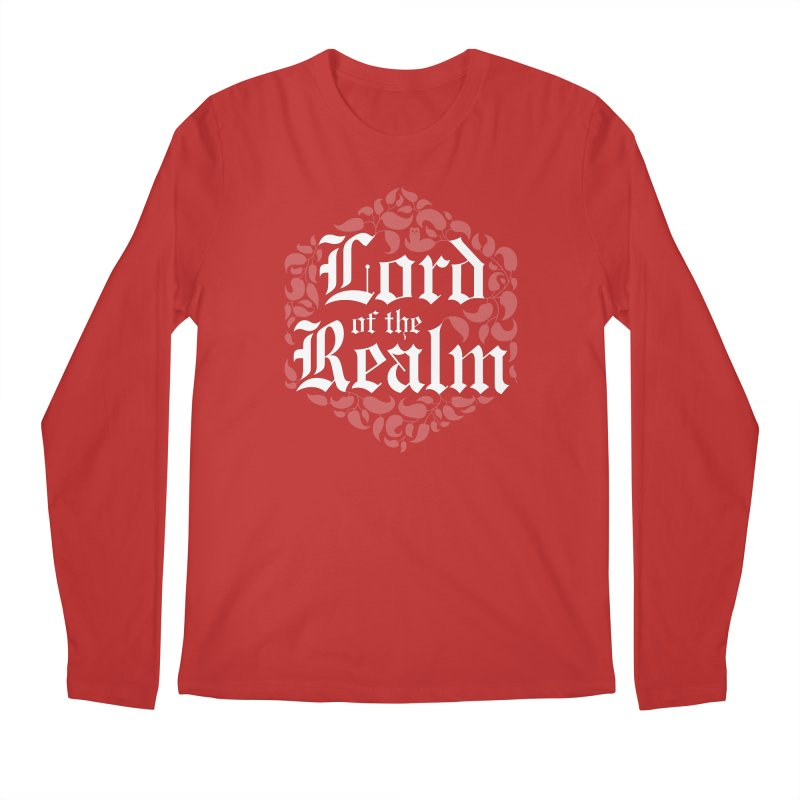 Lord of the Realm (white) Men's Regular Longsleeve T-Shirt by Owl Basket