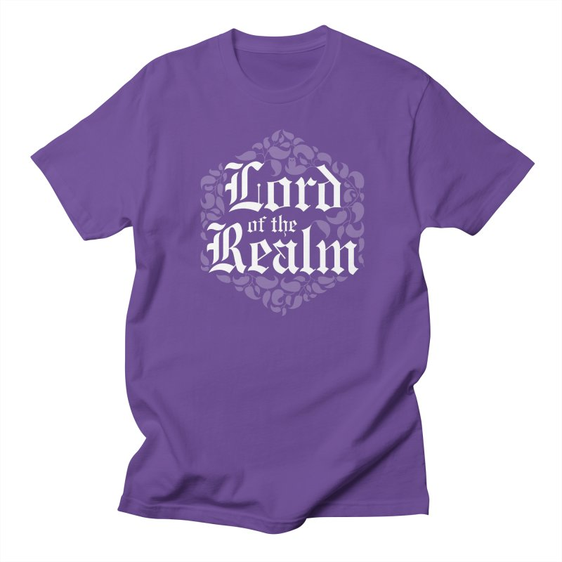 Lord of the Realm (white) Men's Regular T-Shirt by Owl Basket