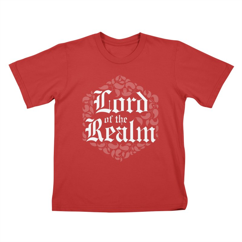 Lord of the Realm (white) Kids T-Shirt by Owl Basket