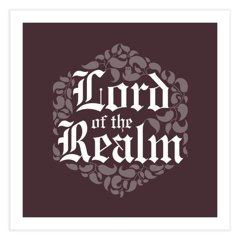 Lord of the Realm (white) Home Fine Art Print by Owl Basket