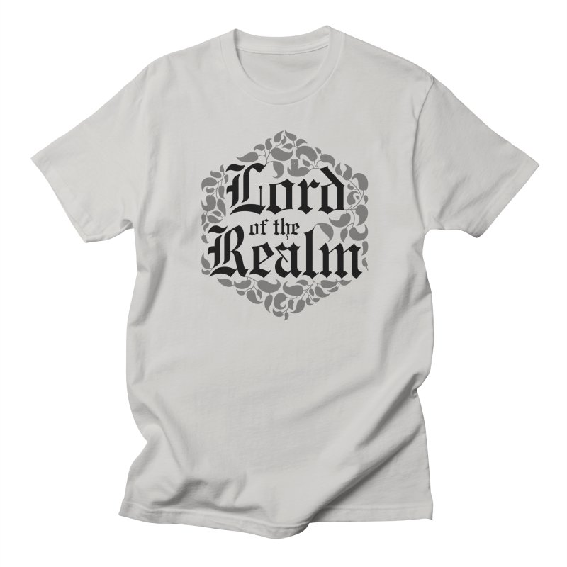 Lord of the Realm (black) in Women's Regular Unisex T-Shirt Stone by Owl Basket