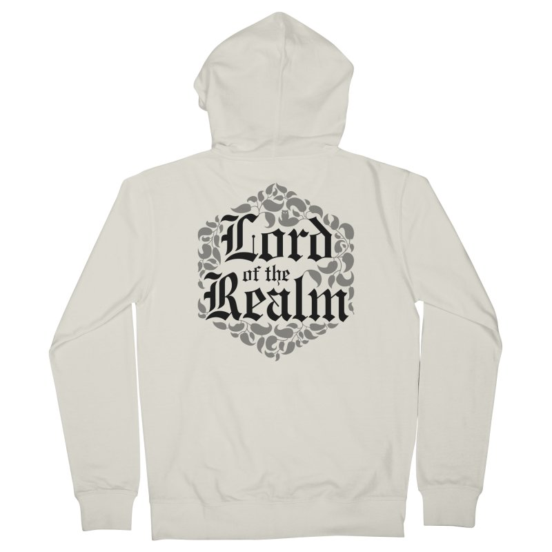 Lord of the Realm (black) Men's French Terry Zip-Up Hoody by Owl Basket