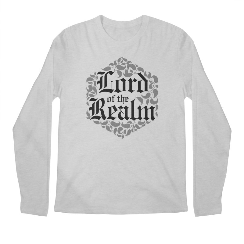Lord of the Realm (black) Men's Regular Longsleeve T-Shirt by Owl Basket