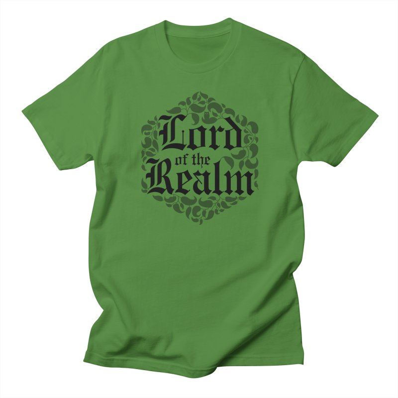 Lord of the Realm (black) Men's Regular T-Shirt by Owl Basket